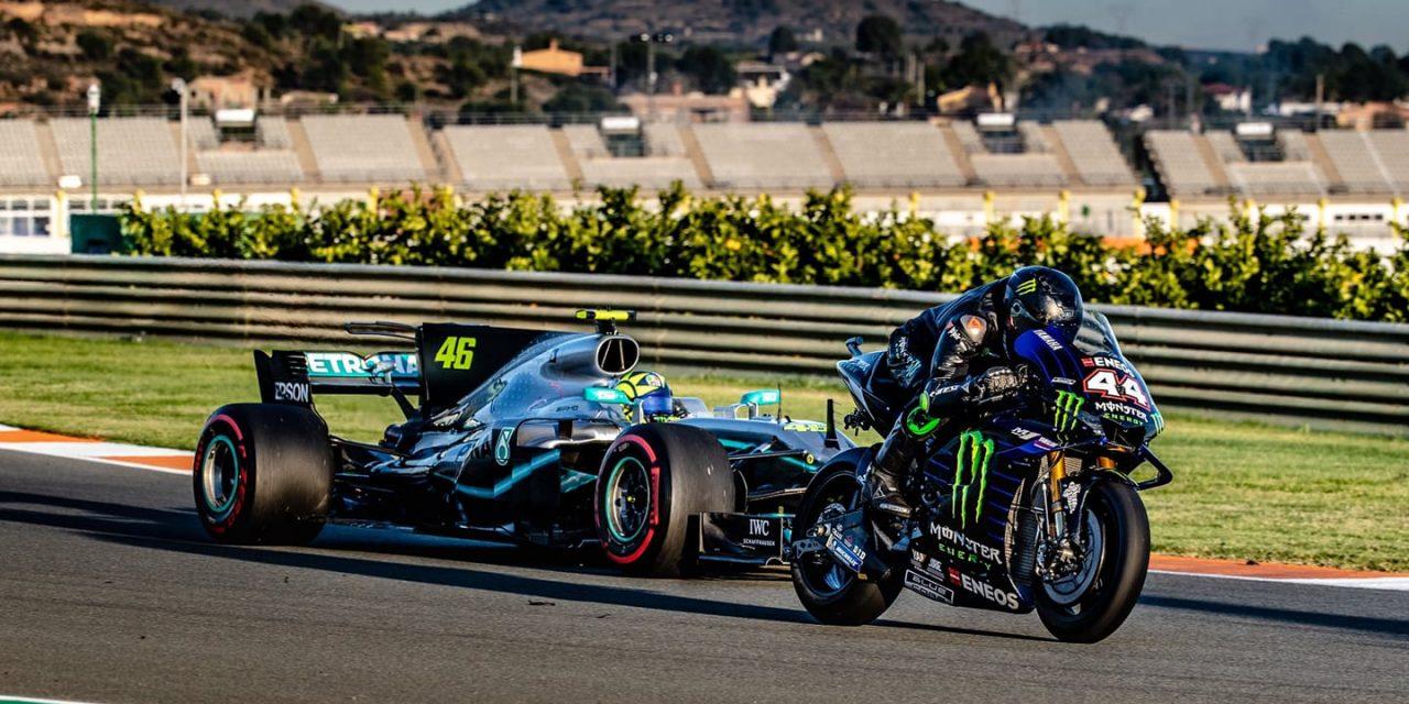 """Rossi: Hamilton je bio """"brilijantan"""" na prvom MotoGP testu"""