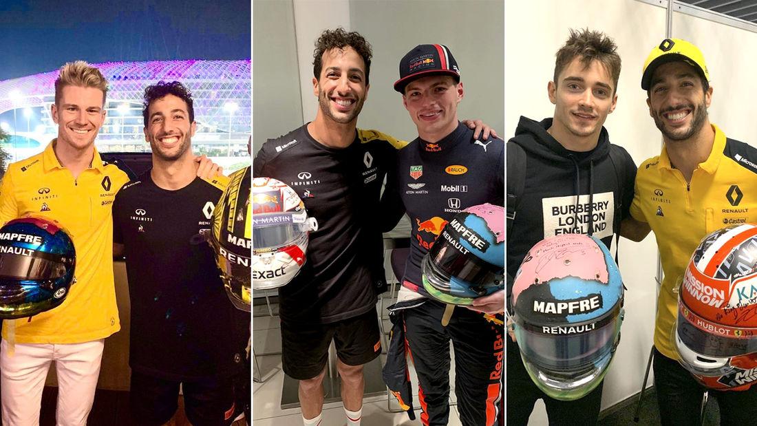 Ricciardo razmjenio kacige sa Leclercom, Verstappenom i Hulkenbergom